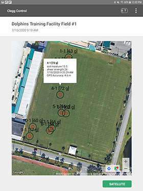 Clegg Impact Tester Mapping with GPS Image