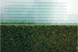 The Grass Height Prism Gauge features graduated measurement lines inscribed on one face of a solid glass prism that are superimposed on the turf allowing you to measure the actual height of the turfgrass and compare it with mower bench settings.