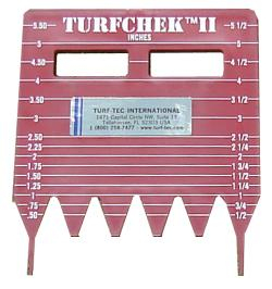 Turfchek II - Rough Grass Height Cut Gauge