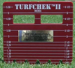 Turfchek II - Rough Grass Height Cut Gauge - Inch side