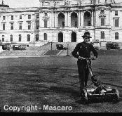 National mower company was one of the first companies to attach a motor to a reel mower.
