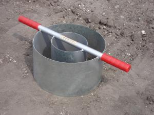 The new Turf-Tec Heavy Duty Tall Infiltration Rings allow the field infiltration rates to be measured. This tool conforms to the new 2006 Pennsylvania Stormwater Best Management Practices Manual.