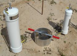 Photo showing IN8P-W Turf-Tec Heavy Duty Tall Infiltration Rings - 6 and 12 inch diameter by 7 inches tall with ports for optional Mariotte Tubes