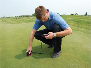 The Field Scout Handheld Digital Moisture Sensor is excellent for testing golf greens, sports fields and agricultural fields