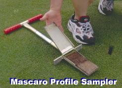 The Turf-Tec Mascaro Profile Sampler - Does your Soil Profile Sampler work like this?