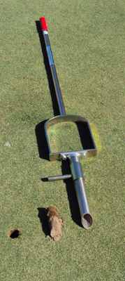 The Plug Popper featuring a patented piston design that allows you to take a 1 1/2 inch x 4 inch deep plug with the stainless steel sampling tip. After the plug is removed, simply push down on the ejection foot peg to eject the sample. In addition to soil sampling, the probe can also be used to assist in seedling planting and fertilizer tablet applications. The soil probe is constructed of zinc-coated steel and stainless steel for durability and long life.