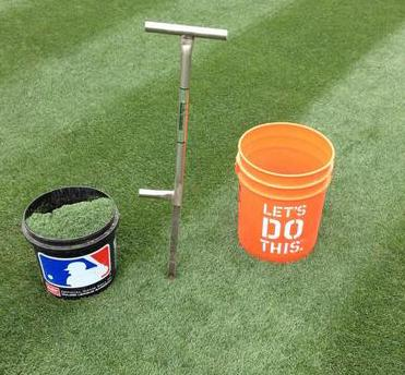 The Turf-Tec Tubular Soil Sampler extracts a core sample 15 inches deep by 3/4 inches wide. All welded-steel design
