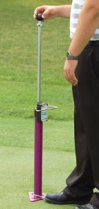 TruFirm in use - raiding impact tester to drop height