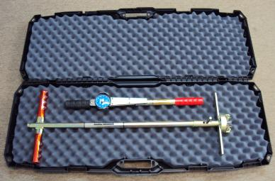 Turf-Tec Shear Strength Tester supplied with hard plastic carrying case