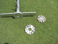 Remove four Phillips screws from shear vane foot Remove shear vane foot