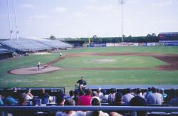 Sports Field Preperation for 2001 spring training at Ft. Lauderdale Stadium, home of Baltimore Orioles.