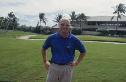 This is Darryl Lambert, Superintendent of New Ewa Beach Golf Club in Ewa Beach, Hawaii.  He had just taken the position and was in the middle of a long awaited renovation.