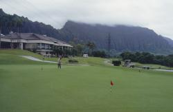 This is Koolau Golf Course on the 'wet' side of Oahu, HI.  The mountains keep much of the rain over the course.