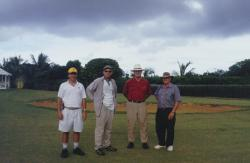 This is a turf farm we visited owned by Tom Staton called Quality Turf.  Pictured left to right, myself, Tom Staton, Al Turgeon, Penn State University, Dr. Don Loch, Queensland Horticultural Institute, Australia.