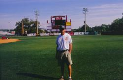This is Justin Wilmot, Assistant Sports Turf Manager at Florida State University showing the baseball field.