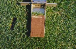 This is a soil profile of the baseball field at FSU. Even though the stadium is brand new, the field was not re-constructed.   It is a native soil field about 60% sand and 40% clay.  The soil profile was taken with the Mascaro Profile Sampler