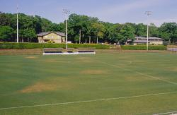 This is the soccer field at FSU.  The area had been experiencing high winds for weeks at the time of this photograph and you can see the sprinkler pattern from the easterly winds.