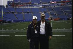 SuperBowl XXXIX at Alltel Stadium, Jacksonville, Florida.  This is George Toma, NFL Consultant for the past 39 SuperBowl's as well as several other NFL events.  George is on the left and I am on the right.