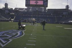 The sod for SuperBowl XXXIX at Alltel Stadium, Jacksonville, Florida was Princess 77 Bermudagrass over seeded with ryegrass. George Toma also assembles an all star cast of Sports Turf Managers and Assistant throughout the entire NFL to assist him in getting the field ready for game day.