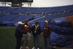 This is (left to right) George Toma, NFL, Brian Dona way, Florida State University, Mark Clay, Sports Turf Manager ate Alltel Stadium in Jacksonville and Justin Wilmot also from FSU.