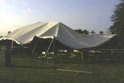 March brings the South Florida Turfgrass Expo at the University of Florida Campus in Davie, FL.  The night before the event, a severe thunderstorm came through the area and lifted two secured tents out of the ground.