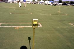 This is the Turf-Tec Moisture Sensor at the South Florida Turfgrass Expo at the University of Florida Campus in Davie, FL.  The Moisture Sensor is being used to show the amounts of Moisture in the plots.