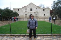 The Sports Turf Managers Show was in San Antonio Texas and despite the ice storm that rolled in the day before the conference began, the show went on.  This is me in front of the Alamo.