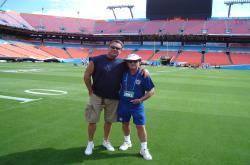 This is Alan Sigwart and George Toma on the Field.  Alan is Sports Turf Manager at Dolphin Stadium and George is SuperBowl Head Groundskeeper for the NFL.