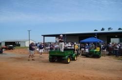 In June of 2008, the University of Florida also holds a Field day at their research center in Jay, FL (just outside Pensacola).  This is Dr. J. Bryan J. Unruh welcoming the group.