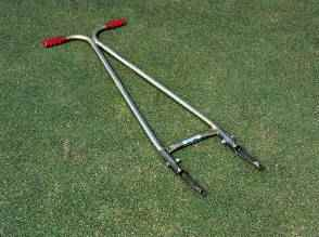 Turf-Tec Aeri-forke spot aerifying tool for aerifying small compacted areas.  It is also useful for localized dry spots.