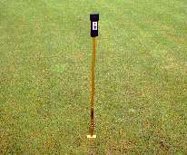 Turf-Tec Digital Thermometer for testing soil temperature.  It is adjustable from one, two and three inches into the soil profile.