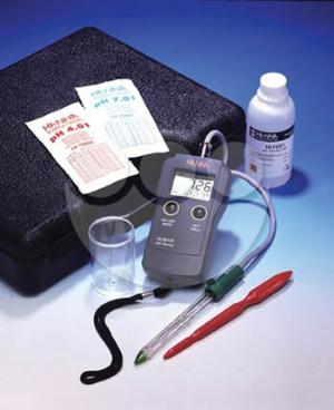 Now, for the first time, a reliable pH Meter to take readings directly in the soil, without the need to remove soil samples and mix up a solution to take a reading.  The Direct Soil pH Probe Kit by Hannah has been designed to answer the question of correct and rapid measurement of pH directly in soil. Every item in this kit has been made to simplify measurements directly in the field without compromising accuracy. With the Direct Soil pH Probe Kit you can test the pH of soil directly.  You also have the flexibility of removing soil and preparing a diluted sample in the lab or office. In order to measure the pH directly, the kit includes a plastic auger to perforate the ground before insertion of the glass electrode.  The glass electrode weeps out a small amount of PHDS-05 - Electrolyte Solution and reports the soil pH directly into the state of the art digital handheld readout.