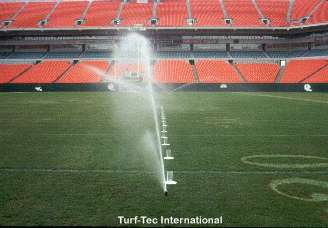 The Turf-Tec Precipitation Uniformity Gauges give important information on water use.  They tell how much water the sprinkler system is delivering and also how uniform the coverage being applied.